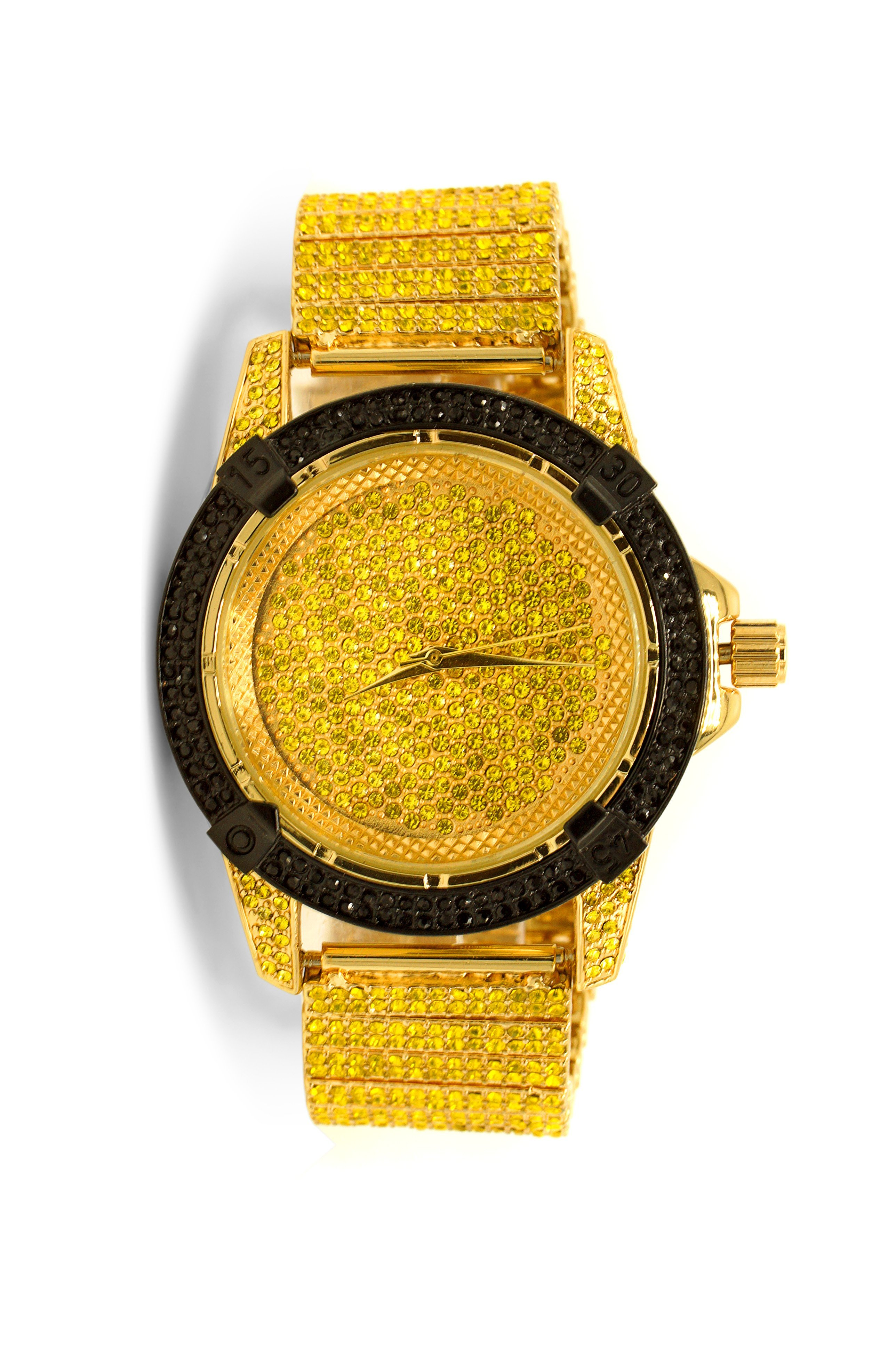 1ffbb9f002ac2 iced-out-watch-gold-with-black-bezel